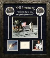 Neil Armstrong Signed 19x22 Custom Framed Display (JSA ALOA)