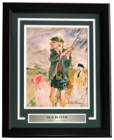 "Leroy Neiman ""Old Duffer"" 16x20 Custom Framed Print Display at PristineAuction.com"