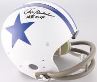 "Roger Staubach Signed Dallas Cowboys Throwback Full-Size Suspension Helmet Inscribed ""SB VI MVP"" (JSA COA)"