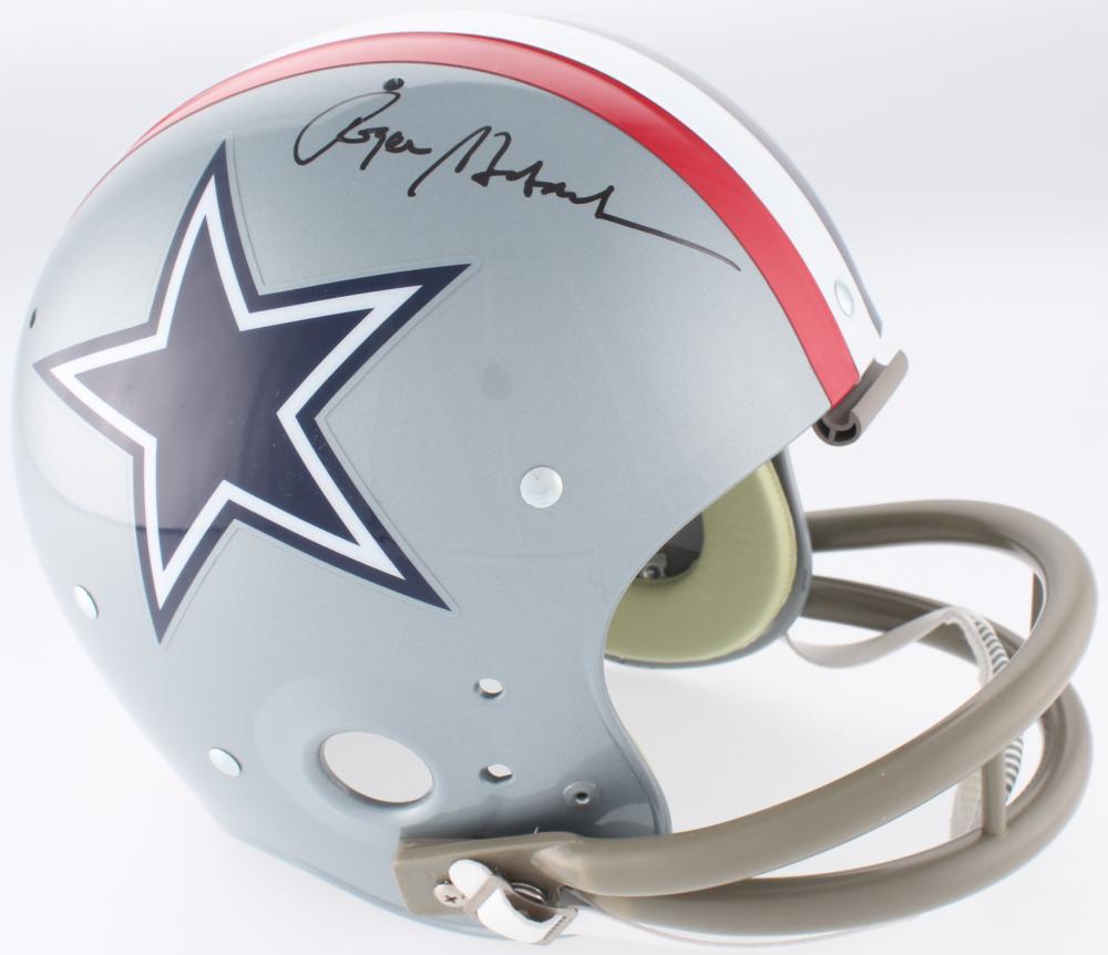 0bdfe6e4358 Roger Staubach Signed Cowboys Throwback Suspension Full-Size Helmet (JSA COA)  at PristineAuction