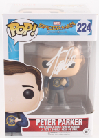 "Stan Lee Signed ""Peter Parker"" #224 Spider-Man: Homecoming Marvel Funko Pop Vinyl Bobble-Head Figure (Radtke Hologram & Lee Hologram)"