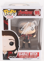 "Stan Lee Signed ""Scarlet Witch"" #95 Avengers: Age of Ultron Marvel Bobble-Head Funko Pop Vinyl Figure (Radtke Hologram & Lee Hologram)"