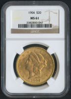 1904 $20 Liberty Head Double Eagle Gold Coin (NGC MS 61)