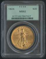 1924 $20 Saint-Gaudens Double Eagle Gold Coin (PCGS MS 62)