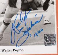 Dick Butkus, Walter Payton & Gale Sayers Signed Bears 18x30 Custom Matted Photo Display wih (2) Inscriptions (JSA COA, Schwartz COA, Payton COA) at PristineAuction.com