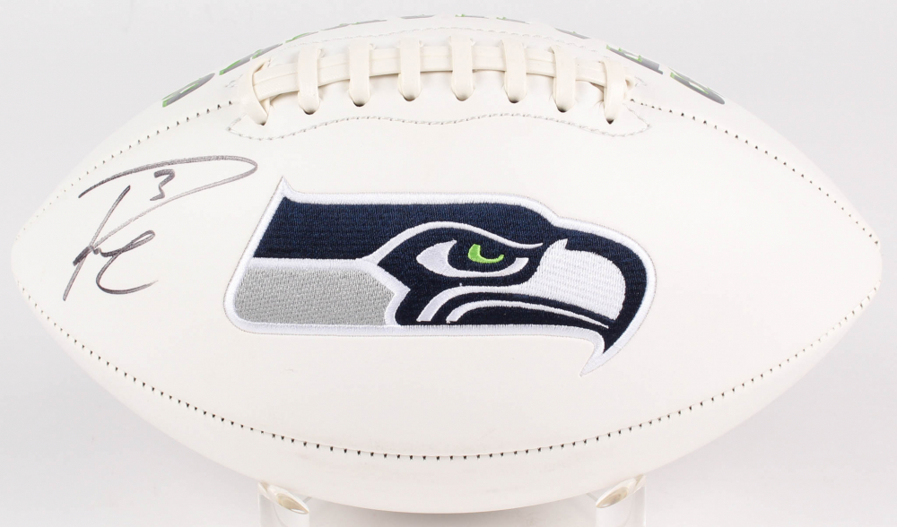 Russell Wilson Signed Seahawks Logo Football (Wilson Hologram) at PristineAuction.com