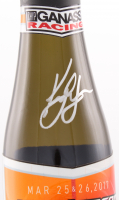 Kyle Larson Signed NASCAR Team Issued 2017 Fontana Wins Trophy Champaign Bottle (PA COA) at PristineAuction.com