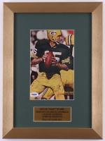 Bart Starr Signed Packers 11x15 Custom Framed Photo Display (PSA LOA)