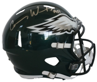 "Carson Wentz Signed Eagles Full-Size Speed Helmet Inscribed ""AO1"" (Fanatics)"