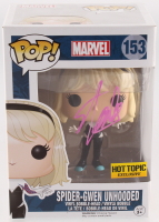 "Stan Lee Signed ""Spider-Man"" #153 Spider-Gwen Unhooded Funko Pop! Bobble-Head Figure (Lee Hologram) at PristineAuction.com"