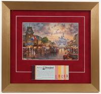 "Thomas Kinkade Disneyland ""Main Street USA"" 13x14 Custom Framed Print Display WIth Coupon Book"