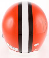 Jim Brown Signed Browns Full Size Throwback Helmet (Steiner Hologram & Fanatics Hologram) at PristineAuction.com