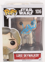"Mark Hamill Signed ""Luke Skywalker"" ""Star Wars: The Force Awakens"" Funko Pop Vinyl Bobble-Head Figure (Radtke COA)"