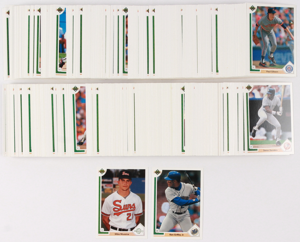 1991 Upper Deck Complete Set Of 800 Baseball Cards With 65 Mike Mussina