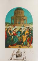 "Salvador Dali Signed ""Raphael Le Mariage de la Vierge"" 22.5x34 1974 Limited Edition Lithograph (PA LOA)"
