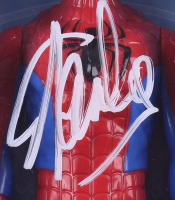 "Stan Lee Signed ""Spider-Man"" Spider-Man Marvel Titan Hero Series Figure (Radtke Hologram & Lee Hologram) at PristineAuction.com"