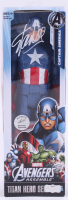 "Stan Lee Signed ""Avengers"" Captain America Marvel Titan Hero Series Figure (Radtke Hologram & Lee Hologram)"