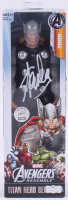 "Stan Lee Signed ""Avengers"" Thor Marvel Titan Hero Series Figure (Radtke Hologram & Lee Hologram) at PristineAuction.com"