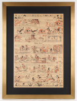 Original Disney 1933 Silly Symphony 21x28 Custom Framed Newspaper Comic Strip