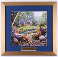 "Thomas Kinkade ""Snow White and the Seven Dwarfs"" 17.5x18 Custom Framed Print"