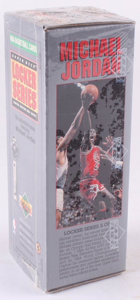 release date 3cf43 c6217 1991 Upper Deck NBA Michael Jordan Locker Series Unopened Box with (7) Packs