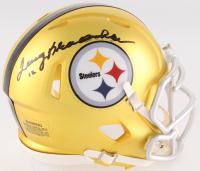 Terry Bradshaw Signed Steelers Blaze Mini Speed Helmet (Radtke COA) at PristineAuction.com