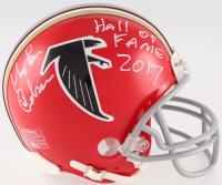 "Morten Andersen Signed Falcons Thorwback Mini Helmet Inscribed ""Hall of Fame 2017"" (Radtke COA) at PristineAuction.com"