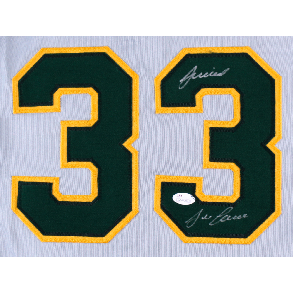 "Jose Canseco Signed Athletics Jersey Inscribed ""Juiced"" (JSA COA) at PristineAuction.com"