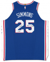 "Ben Simmons Signed Philadelphia 76ers Limited Edition Jersey Inscribed ""Debut 10/18/17"" (UDA COA) at PristineAuction.com"