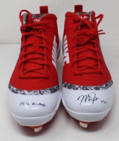 "Mike Trout Signed Pair of Angels Nike Zoom 4 Cleats Inscribed ""14.16 AL MVP"" (Steiner COA)"