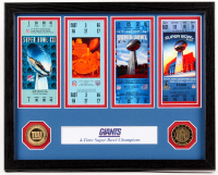 Giants 12x15 Custom Framed Super Bowl Ticket Display with Coins