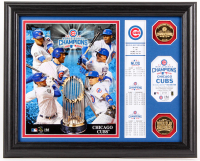 Cubs LE 13x16 Custom Framed 2016 World Series Display with Coins