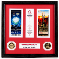 Alabama Crimson Tide 13x13 Custom Framed 2015 Cotton Bowl & Playoff Game Ticket Display with Coins