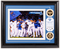 Royals LE 13x16 Custom Framed 2015 World Series Display with Coins