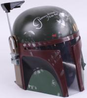 "Jeremy Bulloch Signed Star Wars ""Boba Fett"" Full-Size Deluxe Edition Star Wars Helmet Inscribed ""Boba Fett"" (Radtke Hologram) at PristineAuction.com"