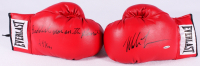 "Mike Tyson Signed Pair of (2) Everlast Boxing Gloves Inscribed ""Baddest Man on the Planet"" & ""44 KOs"" (UDA COA)"