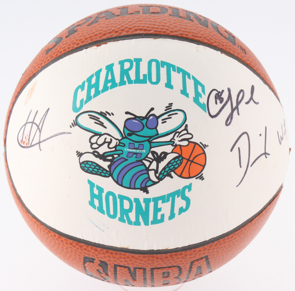 Signed Charlotte Hornets Logo Mini Basketball By 3 Including Chris Paul