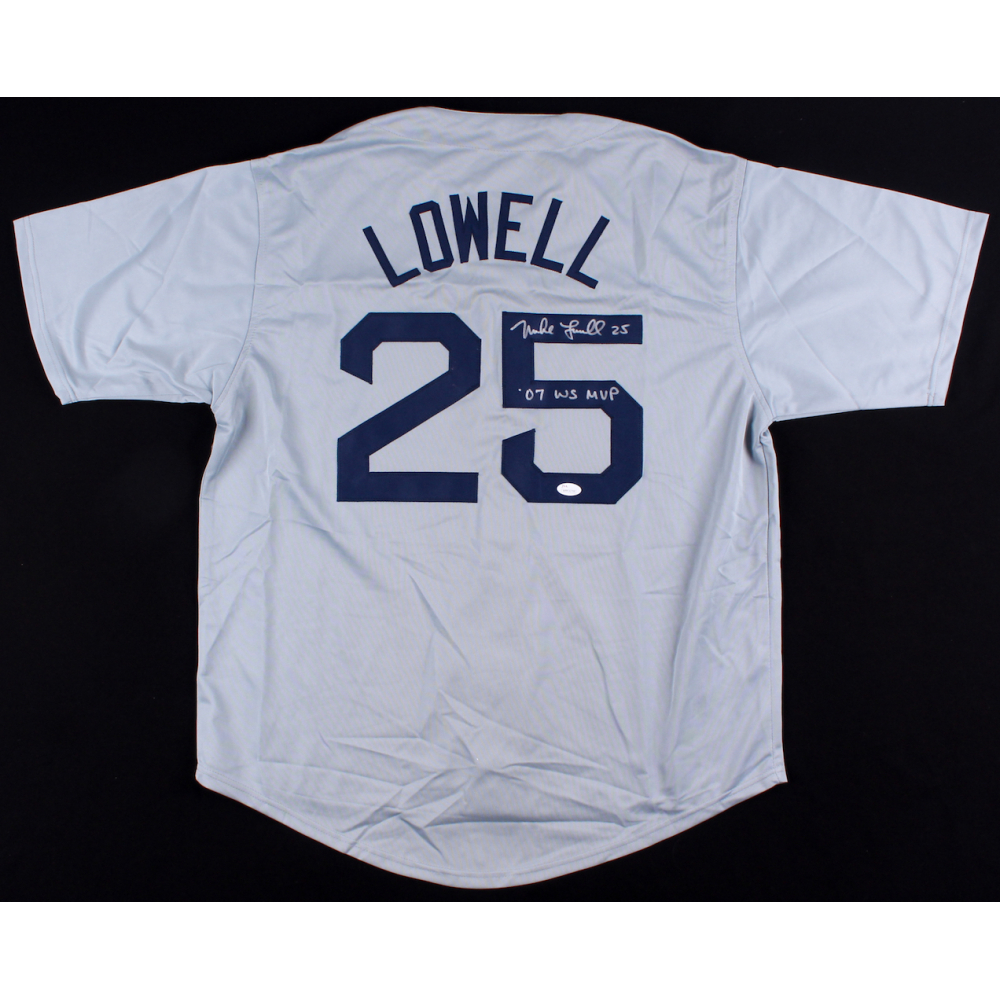 Mike Lowell Signed Red Sox Jersey Inscribed
