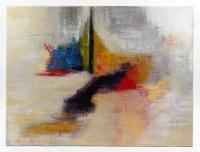 "Tadas Zaicikas Signed ""Musing on the Edge"" 30x40x1 Original Acrylic Painting on Canvas (PA LOA)"