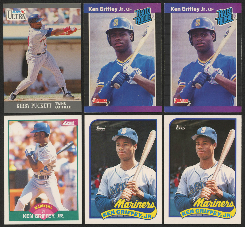 5b13cc37bf Lot of (6) Baseball Cards with (2) 1989 Topps Traded #41T