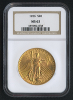 1926 $20 Saint-Gaudens Double Eagle Gold Coin (NGC MS 63)