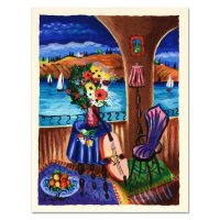 "Shlomo Alter Signed LE ""Spanish Guitar"" 10x13 Serigraph at PristineAuction.com"