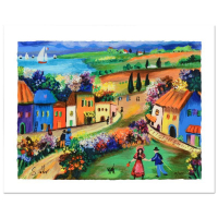 "Shlomo Alter Signed ""The Village"" Limited Edition 13x10 Serigraph at PristineAuction.com"