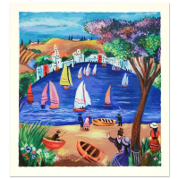 "Shlomo Alter Signed ""Near the Lake"" Limited Edition 14x15 Serigraph at PristineAuction.com"
