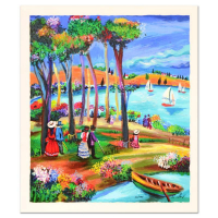 "Shlomo Alter Signed ""Afternoon Stroll"" Limited Edition 13x15 Serigraph at PristineAuction.com"