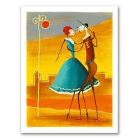 "Ester Myatlov Signed ""Arabian Nights"" Limited Edition 6x8 Serigraph"