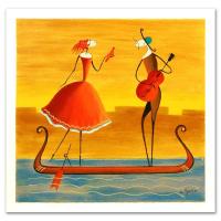 "Ester Myatlov Signed ""Love on a Gondola"" Limited Edition 13x13 Serigraph at PristineAuction.com"