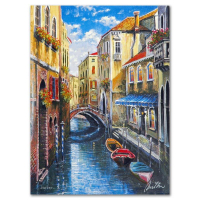 """Anatoly Metlan Signed """"Venice"""" Limited Edition 9x12 Lithograph at PristineAuction.com"""