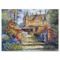 """Anatoly Metlan Signed """"Castle in the Woods"""" Limited Edition 9x12 Lithograph at PristineAuction.com"""