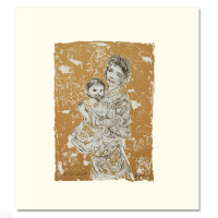 """Edna Hibel Signed """"Golden Dreams"""" Limited Edition 21x26 Lithograph at PristineAuction.com"""